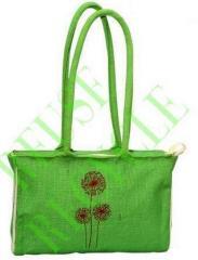 Green Jute Designer Bags