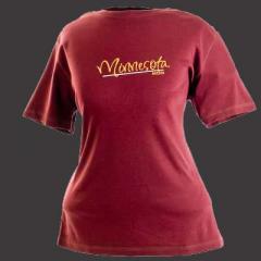 Ladies Chest Print Tee Shirt