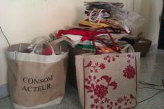 Jute Shopping Bags, Handbags, Hessian, CBC