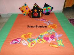 Bed Sheet : Embroidery Butterfly